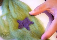 How to do designs on felted soap | Little Birdie Secrets