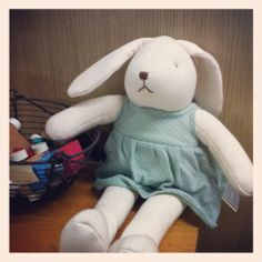 Ally, Rabbit, Baby's 1st soft dolls. Designed by Hanz, using organic cotton.