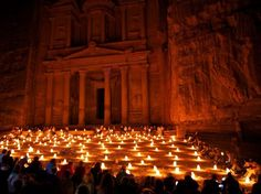 Petra looks stunning by candlelight in the evening! It must be a festival of some sort. Do you know? We'd love to hear more. @Hello_Portal #futureplanning #petra