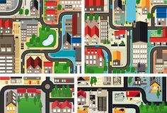 Cities, Roads & Factories #1 by Loulou and Tummie , via Behance