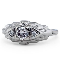 14K White Gold The Jubilee Ring, large top view