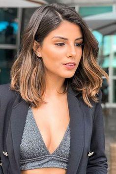 Short Straight Hair, Short Hair Cuts, Straight Hairstyles, Mid Length Hairstyles, Medium Brunette Hairstyles, Ombre Short Hair, Medium Short Haircuts, Brown Hairstyles, Long To Short Hair