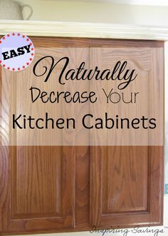 The Fastest & Easiest WAY - To Degrease Your Kitchen Cabinets (All Naturally) - http://inspiringsavings.com/degrease-your-kitchen-cabinets/