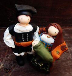 #laconi #nuracrea #sardegna #folk #tradizione #handmade #miniatures #family #abito tradizionale