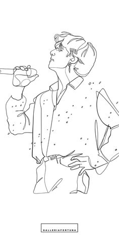 BTS Poster.Wall art poster of BTS Jungkook.Line art design based on Jungkook Pied Piper Live performance. Line Art Design, Outline Art, Outline Drawings, Kpop Drawings, Art Drawings Sketches, Bts Tattoos, Bts Wallpaper, Printable Art, Fan Art