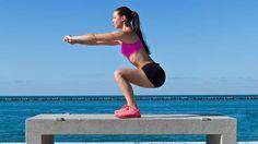Kniebeugen sauber und richtig ausführen. Kraft- und Balancetraining für den Unterkörper, perfekt für Fettabbau und Muskelaufbau