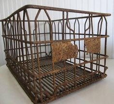 Your place to buy and sell all things handmade Metal Milk Crates, Farm Tools, Vintage Baskets, Rusty Metal, Steel Wool, Vintage Beauty, Primitives, Country Decor, Attic