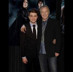 Daniel Radcliffe and Alan Rickman ... aka ... Harry Potter and Professor Severus Snape