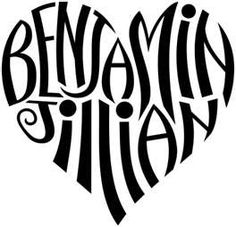 Heart Tattoos with the name of your children! Neat idea!  This is cute too, and it says Benjamin!  I think its a sign.  ;)