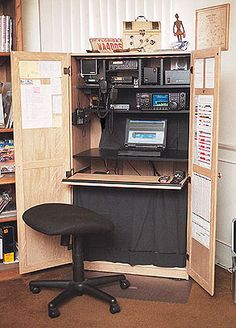 My low profile armoire ham shack, a hidden ham radio cabinet