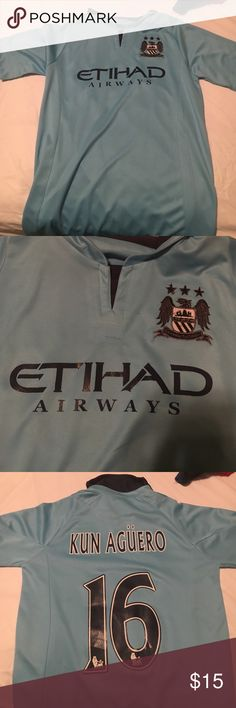 Man city kun agüero jersey Great condition, don't remember ever wearing it because it was the wrong size Shirts
