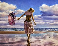 Paul Kelley's sensual art has a romantic appeal, from his figurative painting, fashion artwork, and nude art prints, to his dance artwork and Nova Scotia art. Craig Mullins, Jack Vettriano, Creation Photo, Fashion Artwork, Umbrella Art, Paintings I Love, Art Paintings, Art Themes, Backgrounds
