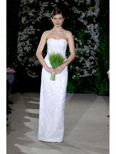 Carolina Herrera  Wedding dress from the Carolina Herrera collection on the runway during the Spring 2012 New York Bridal Week season at a private studio on April 9, 2011 in New York City.