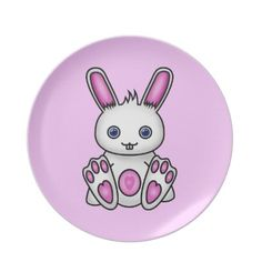 #Kawaii #Pink #Bunny #Dinner #Plates $28.10