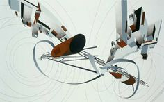 'The Great Utopia', (study in white) 1992, by Zaha Hadid RA, for 'The Great Utopia' exhibition at the Guggenheim, New York, in 1992