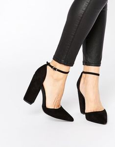 9e6ec64f5c4d9 New Look | New Look Two Part Block Heeled Shoes Buty Na Obcasie, Buty Na