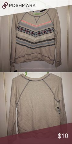 Sweatshirt (read description) Size small sweatshirt. I'm assuming it's a Junior's Small but looks more like a girl's 14/16 but my daughter wore it and she wears junior's small but it was a little snug. Jolt Tops Sweatshirts & Hoodies