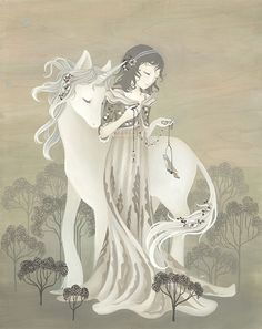 """Amy Sol, """"The Little Brown Bird"""". The simplest of names for the most beautiful of paintings . Art And Illustration, Illustrations, Fantasy Kunst, Fantasy Art, Unicorn Fantasy, Amy Sol, Brown Bird, Amy Brown, The Last Unicorn"""