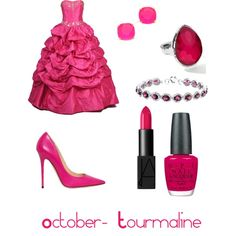 Birthstone outfits - October - Tourmaline