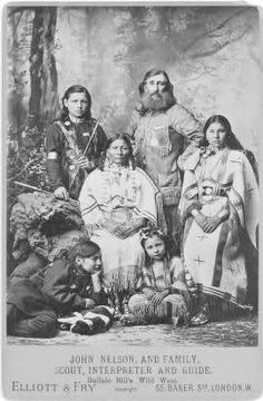 John Nelson and his family--scout, interpreter and guide.  Probably 1887, by Elliott and Fry (London).