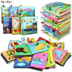teytoy My First Soft Book, Nontoxic Fabric Baby Cloth Books Early Education Toys Activity Crinkle Cloth Book for Toddler, Infants and Kids Perfect for Baby Shower -Pack of Toys & Games Baby Baby, Baby Love, Baby's First Books, Interactive Toys, Developmental Toys, Toddler Books, Baby Shower, Babies First Year, Early Education