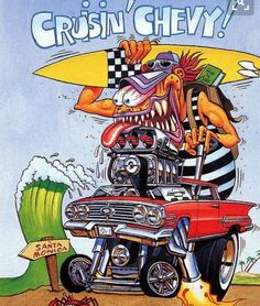 rat fink ed big daddy roth cruisin chevy - Love Cars & Motorcycles Weird Cars, Cool Cars, Caricature, Ed Roth Art, Cartoon Car Drawing, Volkswagen, Cool Car Drawings, Monster Car, Rat Fink