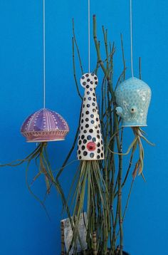 Ceramic Cephalopod and Jellyfish Air Plant Holders-1