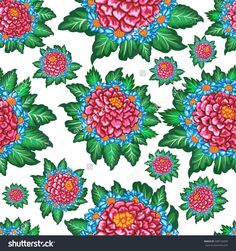 Vintage flower pattern with floral background