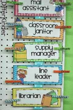 Classroom Helper Idea (from A Differentiated Kindergarten)