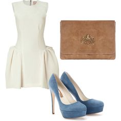 my pop of blue, created by arickel on Polyvore