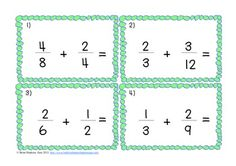FREE Add and Subtract Fractions with Unlike Denominators Tasks Cards with Board Game!
