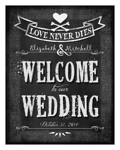 Hey, I found this really awesome Etsy listing at https://www.etsy.com/listing/191569730/personalized-welcome-to-our-wedding-diy