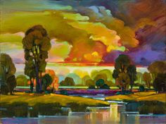 "Contemporary Painting - ""Prism Sky 2"" (Original Art from Mac Stevenson)"