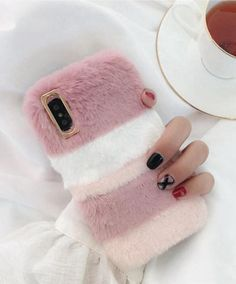 Losin Plush Case Compatible with iPhone Xs Max Fashion Luxury Cute Colorful Fuzzy Furry Winter Rabbit Hair Warm Plush Fluffy Fur Soft TPU case