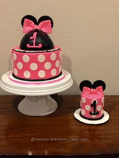 Minnie Mouse Birthday Cake With Matching Minnie Smash Cake... Coolest Birthday Cake Ideas
