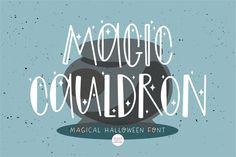 MAGIC CAULDRON Halloween Witch Font #halloween #halloweenfont #scaryfont Halloween Fonts, Halloween Magic, Halloween Horror, Halloween Design, Halloween Crafts, Halloween Decorations, Scary Font, Spooky Font, Cricut Htv