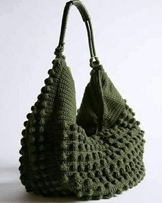 Crochet Purse Patterns, Macrame Patterns, Crochet Handbags, Crochet Purses, Diy Bags From Old Jeans, Art Bag, Knitted Bags, Handmade Bags, Lana