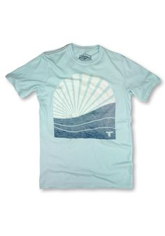 63e87e1d6ff34e Topo Ranch Surf Rise Tee in Blue Summer Organic Cotton – MyStyleLA
