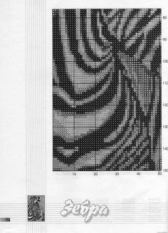 Cross-stitch Zebra, part 2...   color chat on part 3 & 5...     Solo Patrones Cross Stitch | Learn craft are facilisimo.com