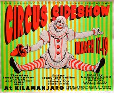 Images For > Vintage Circus Sideshow Posters