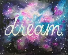 Galaxy Dream Watercolor Print Stars Inspirational by FuzzyLlamas