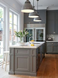 Gray always provides a classic, sophisticated, and clean base against which art, textiles, wood, and metal look fantastic. Regardless of whether a home is modern, traditional, or somewhere in between, gray is a fantastic choice.