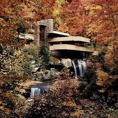 Via _roomonfire Frank Lloyd Wright's iconic Fallingwater