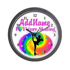 AWESOME SKATER Wall Clock Keep motivated looking every day at our Figure Skating clocks.  http://www.cafepress.com/sportsstar/10189550 #Figureskater #IceQueen #Iceskate #Skatinggifts #Iloveskating #Borntoskate #Figureskatinggifts #PersonalizedSkater #Skaterclock