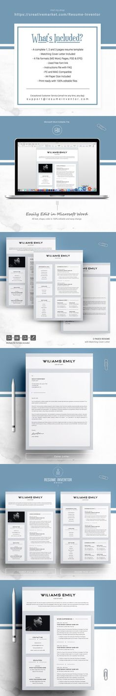 Resume template for MS Word Professional Resume Templates