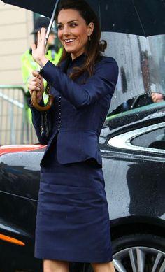 Kate Middleton wears Amanda Wakeley at Witton Park, Darwen, April 2011