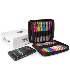 48 Colored Gel Pens Plus 48 Ink Refills, Case & Gift Box - Ships Sept 6th