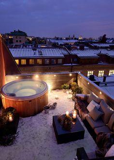 Toit terrasse / rooftop avec jacuzzi