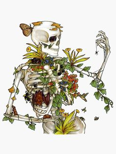"""Check out our internet site for additional info on """"buy art online"""". It is actually an excellent spot to learn more. Art Sketches, Art Drawings, Bone Drawing, Skeleton Art, Skeleton Flower, Flower Skull, Arte Sketchbook, Plant Art, Hippie Art"""