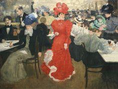 Henri Evenepoel (Belgique, 1872-1899) – Au Café d'Harcourt à Paris (1897) Institut d'art Städel, Francfort